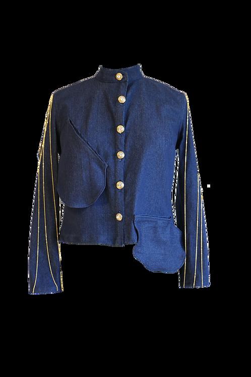 Gold Chains Logo Denim Jacket