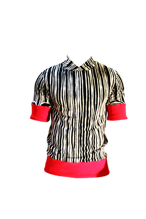 Black and White T-shirt with Red details