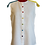 Thumbnail: Sleeveless White Linen Shirt with 3 Colours Slips