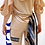 Thumbnail: Triple Hoodie Skin Color Top with Chiffon Back