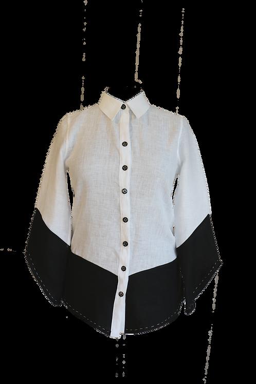 Black and White Linen Shirt