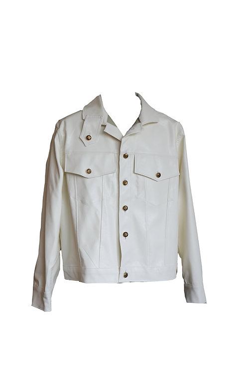 White Leather Imitation Jacket