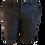 Thumbnail: Black Linen Short with White Threads Artwork