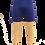 Thumbnail: Blue Short with Skin Color Leggings