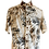 Thumbnail: Palm Leaves Print Linen Shirt with Wooden Buttons