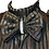 Thumbnail: Black & Silver Double Bow Top