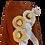 Thumbnail: Long Linen Skirt with Hats and Ruffles Décor