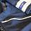 Thumbnail: Denim and Silver Short arms T-Shirt