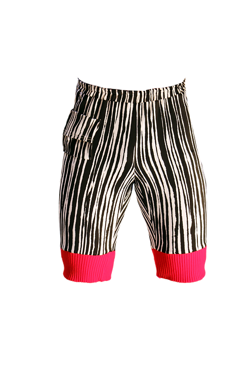 Black and White Shorts with Red details
