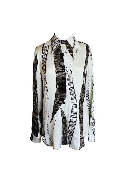 Crystal Embellished Viscose Shirt