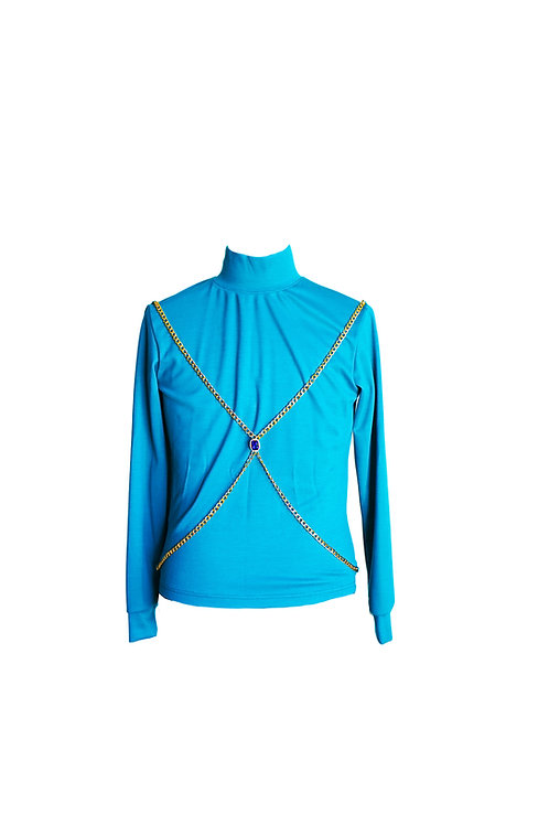 The Chained Turquoise Sweater
