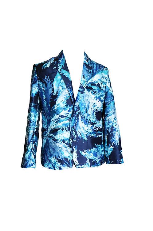 Frozen Print Blue Blazer
