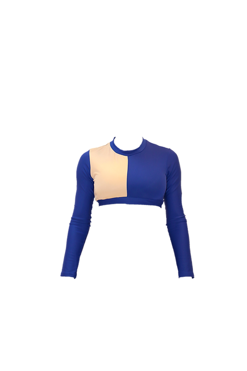 Blue Sports top with long arms