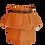 Thumbnail: Brown Linen High Waist Double Skirt with Satin Belt