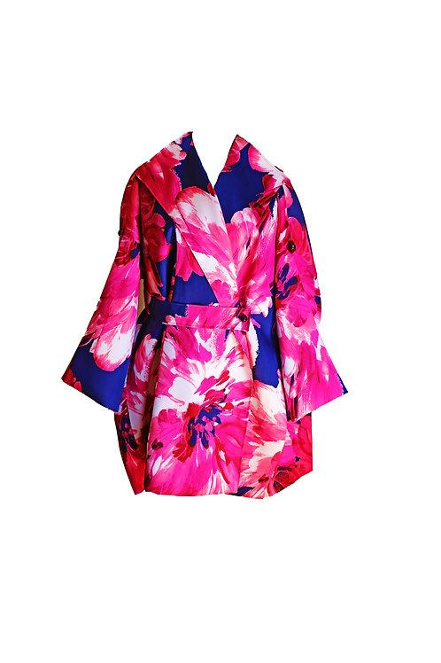Floral Print Oversized Coat