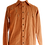 Thumbnail: Brown Linen Shirt with Wooden Art