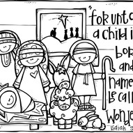Nativity Colouring