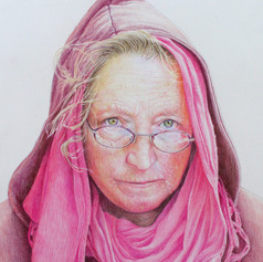 jane in coloured pencils