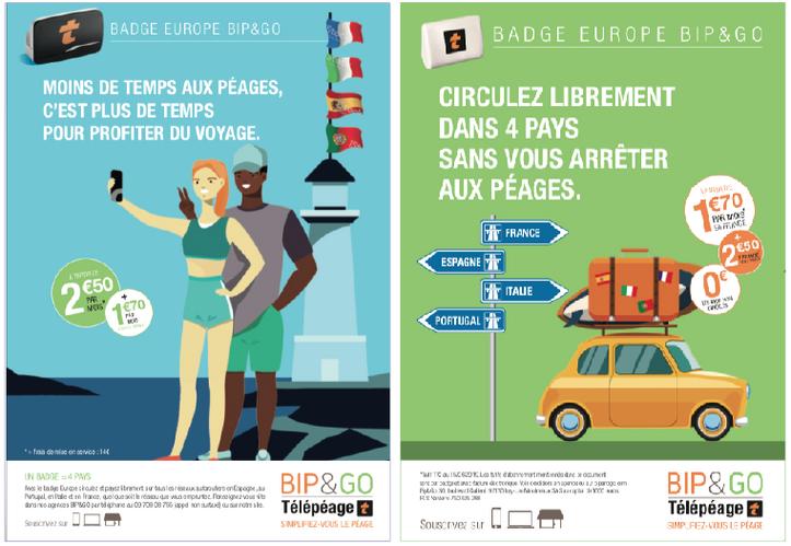 bip & go Affichettes Réseau