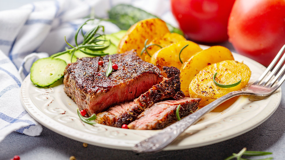 Sirloin of Beef with New Potatoes