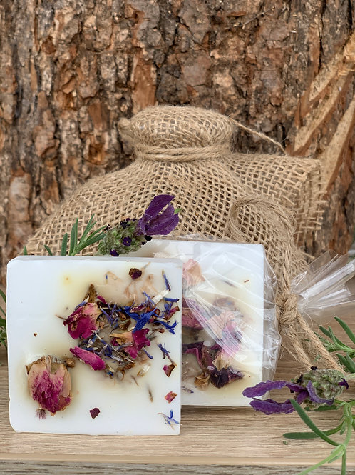Glycerin Soap with Natural Flowers