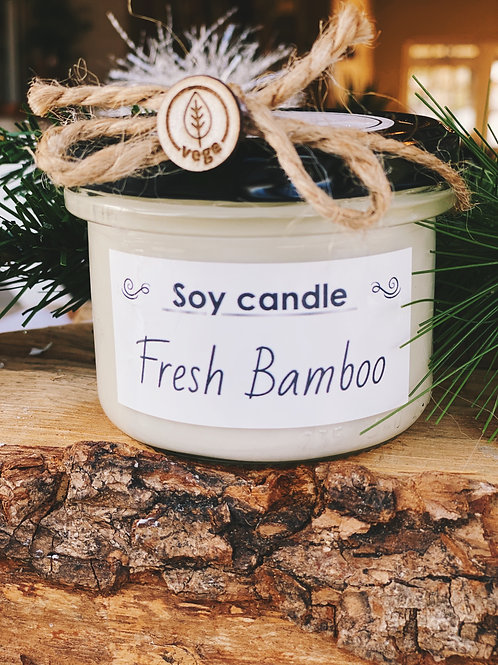 Soy Candle Fresh Bamboo