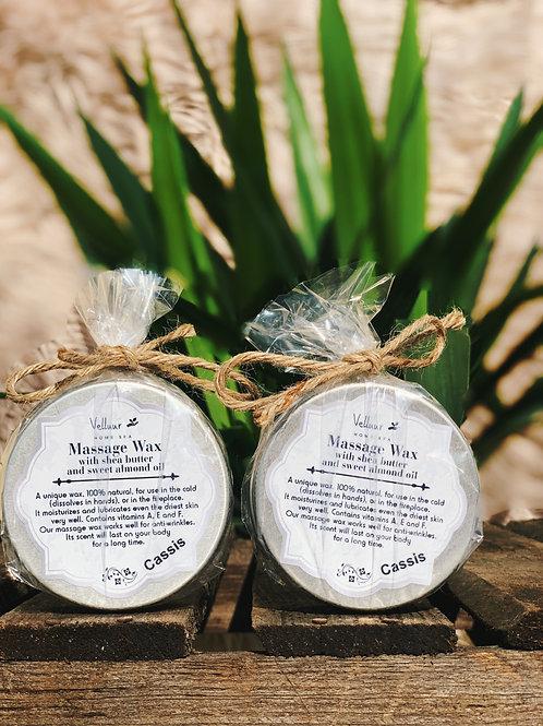 Massage Wax with Sweet Almond & Shea Butter Cassis