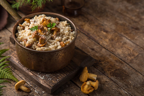 Mushroom Risotto with Pickled Wild Mushroons