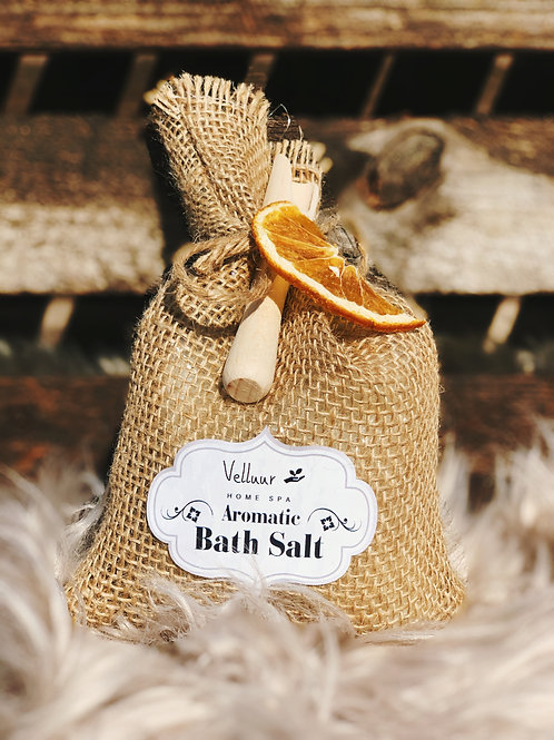 Bath Salt In Natural Jute Aromatic Orange