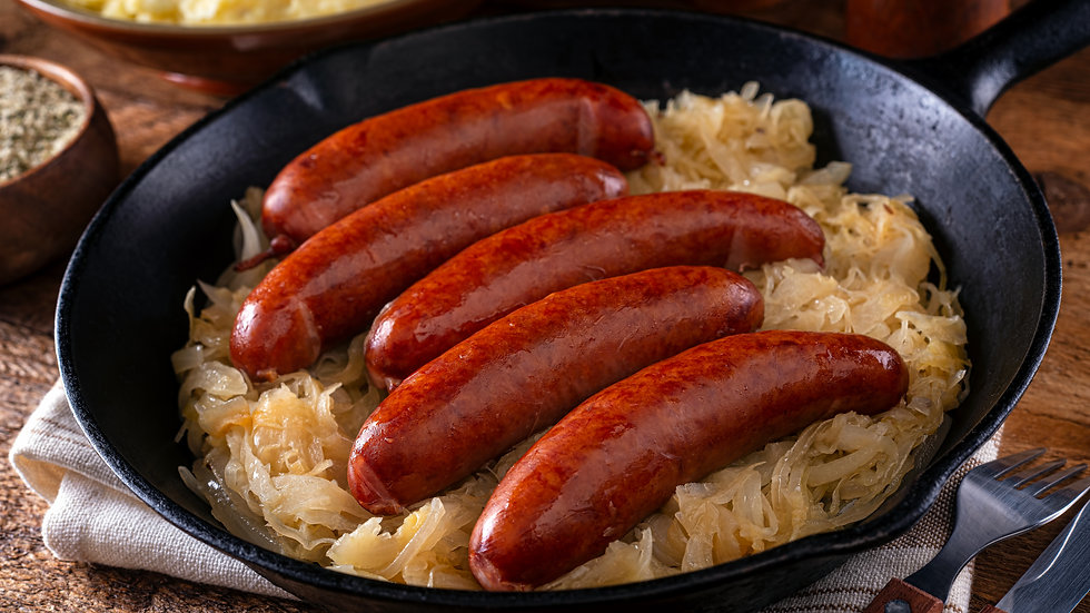 Grilled Kielbasa with Sauerkraut