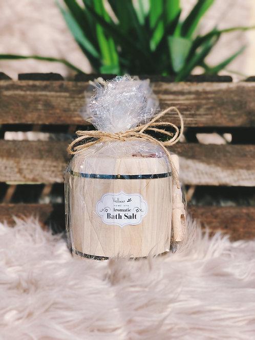 Aromatic Bath Salt Wooden Barrel Floral Jasmine