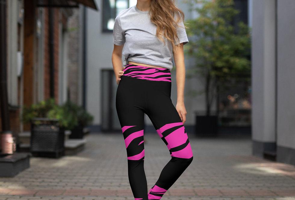 pink tiger Leggings