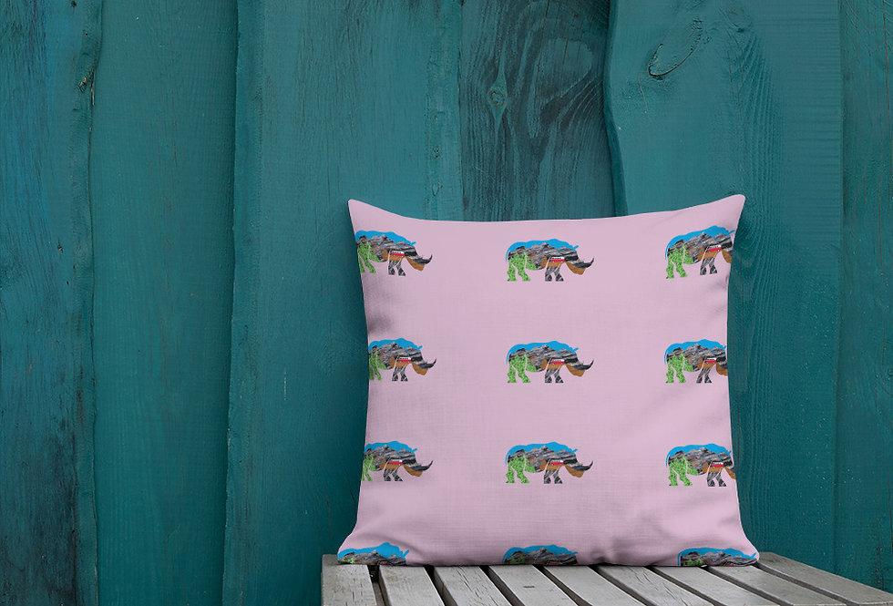 Rhino Adventure Pillow
