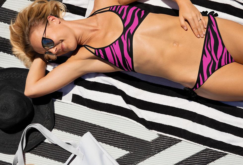 Pink tiger print Bikini