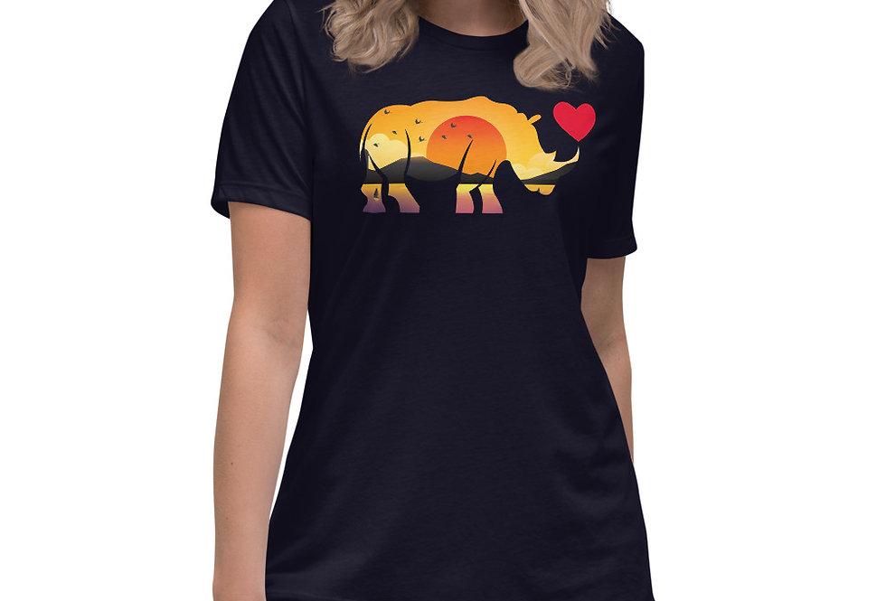 Sunset Rhino Relaxed T-Shirt
