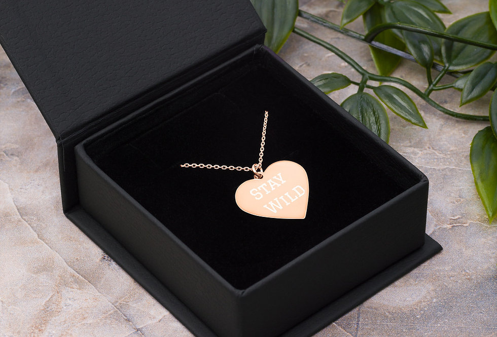 Stay Wild Heart Necklace
