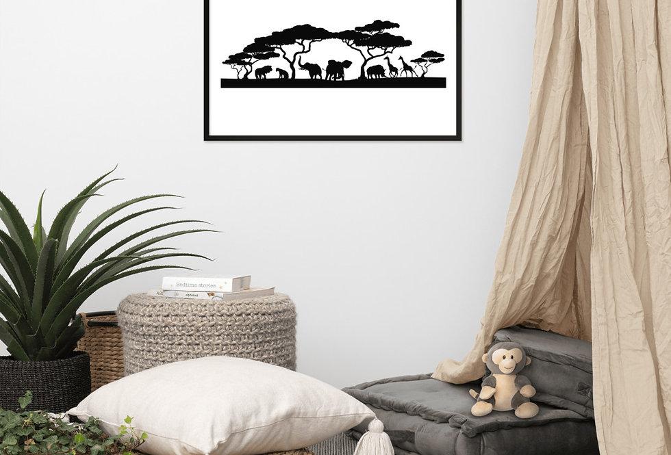 Framed Safari Print