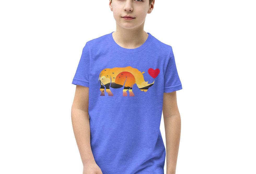 Kids Sunset Rhino tee