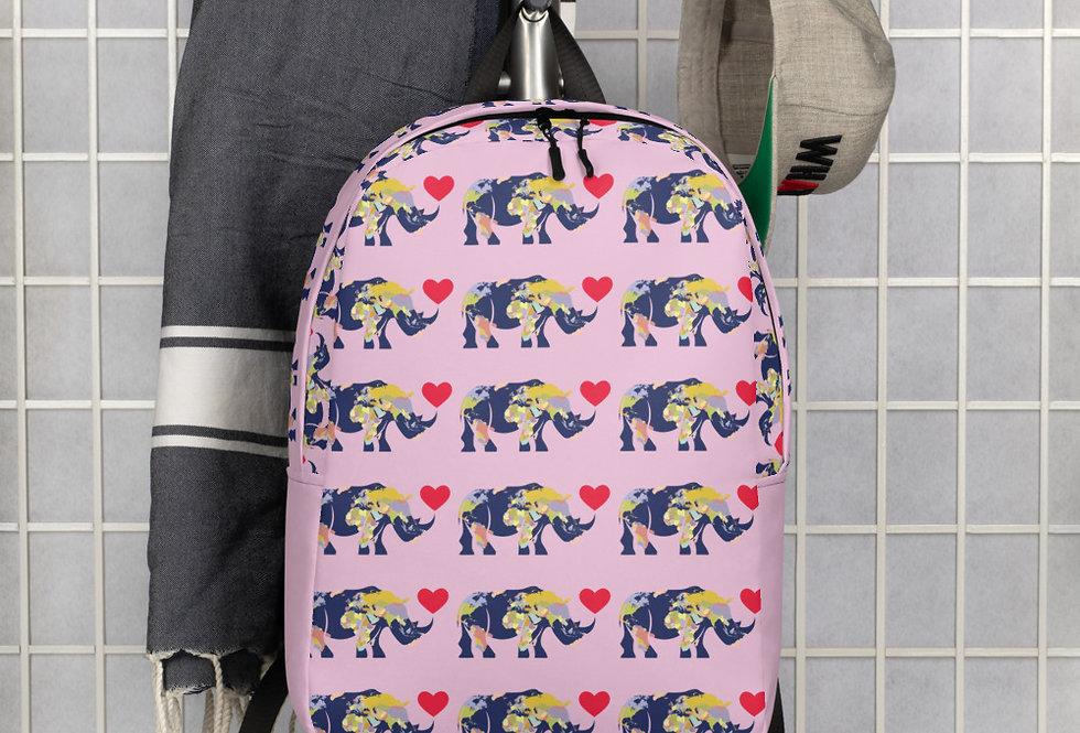 World Rhino pink Backpack