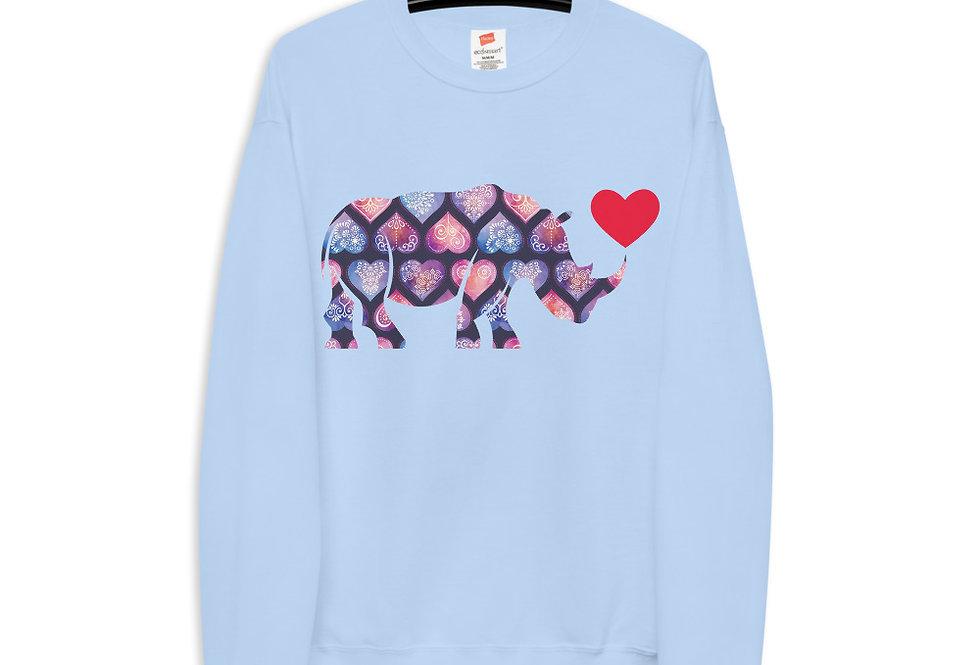 Rhino heart sweatshirt