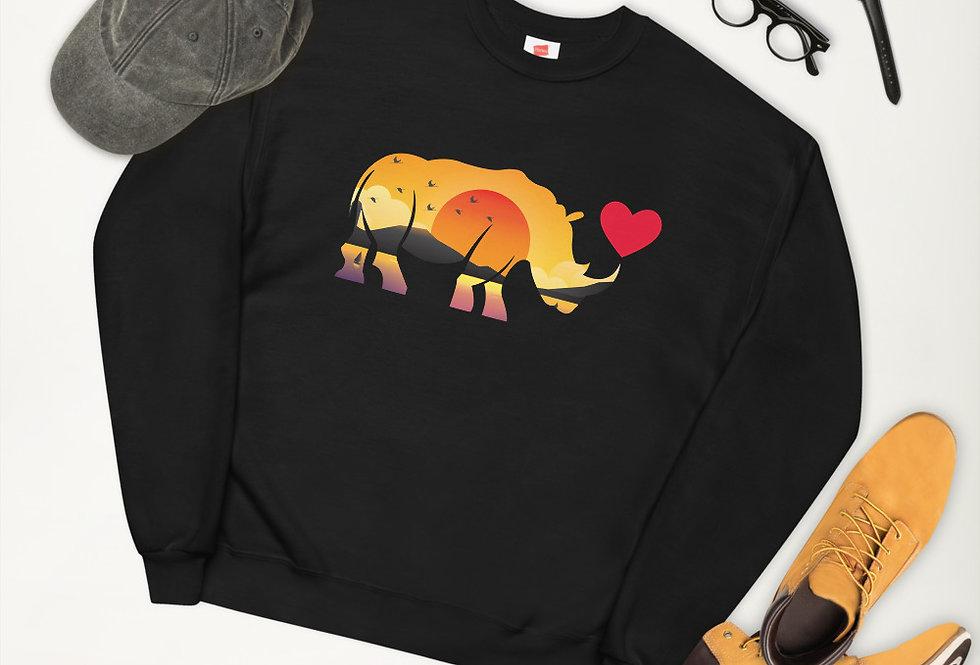 Sunset Rhino sweatshirt
