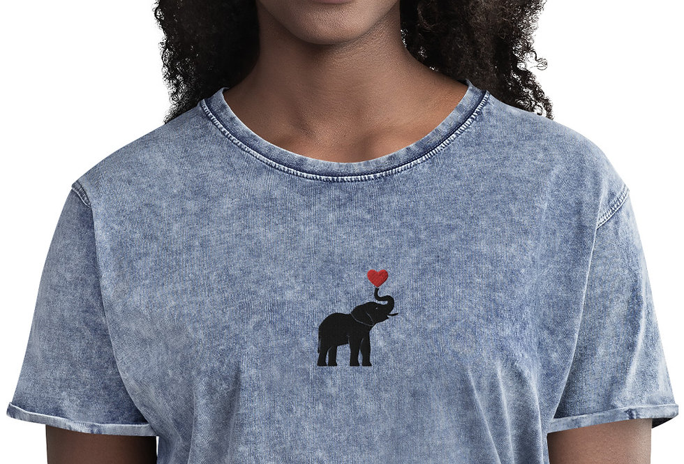 Elephant Denim T-Shirt