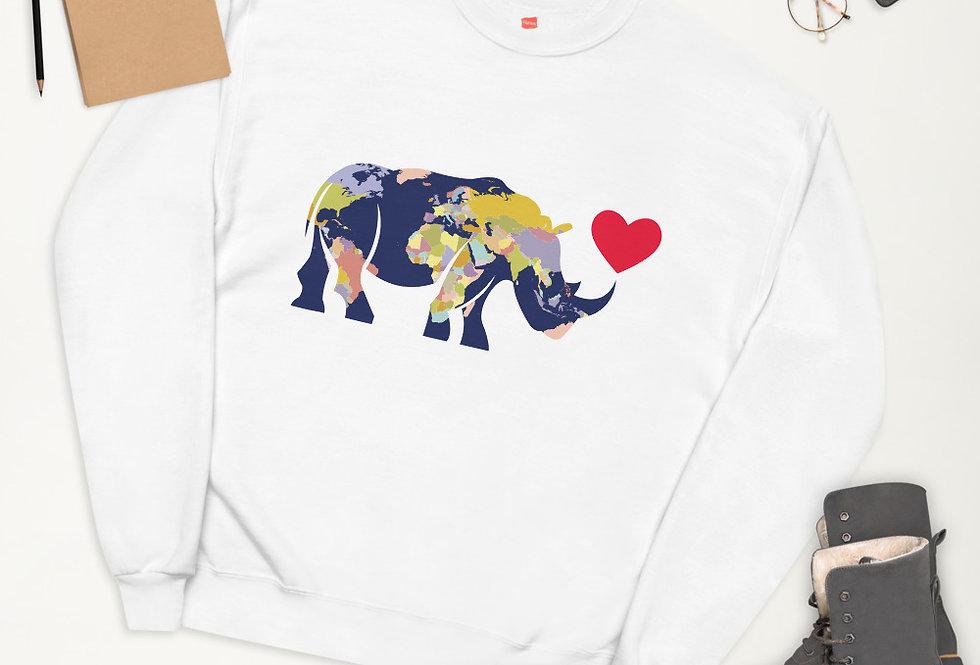 Rhino world  sweatshirt