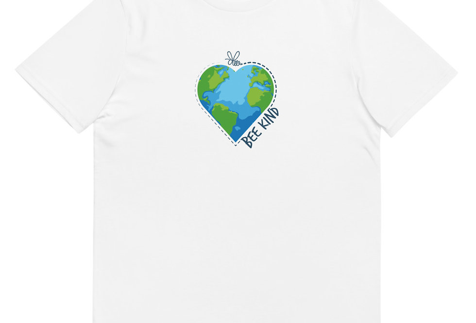 Bee kind Earth organic cotton t-shirt