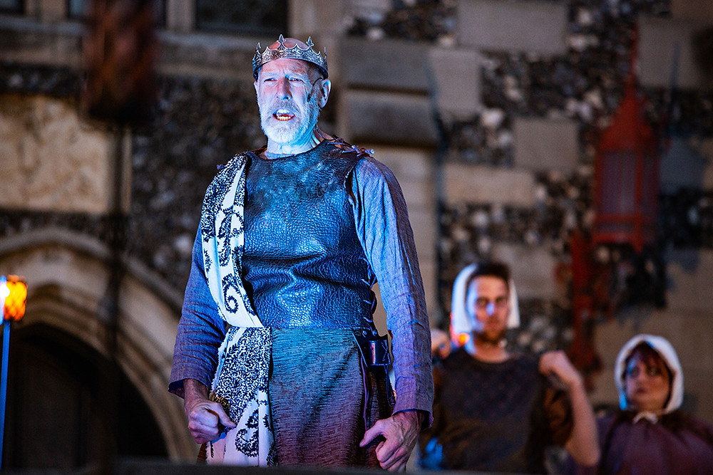 "Tom Geraty as ""Macbeth"" in 2019"
