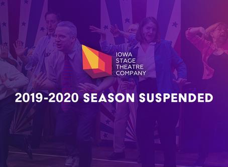 ISTC ANNOUNCES SUSPENSION OF 2019-2020 SEASON