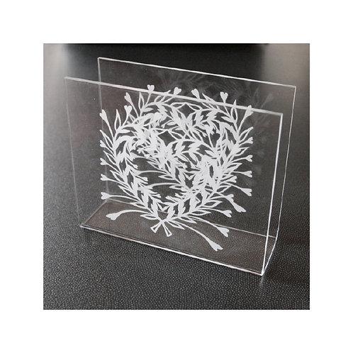 Porte serviettes Coeur floral