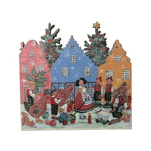 Magnet Noël villageois