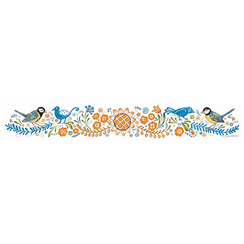 Frise fleuri et oiseaux