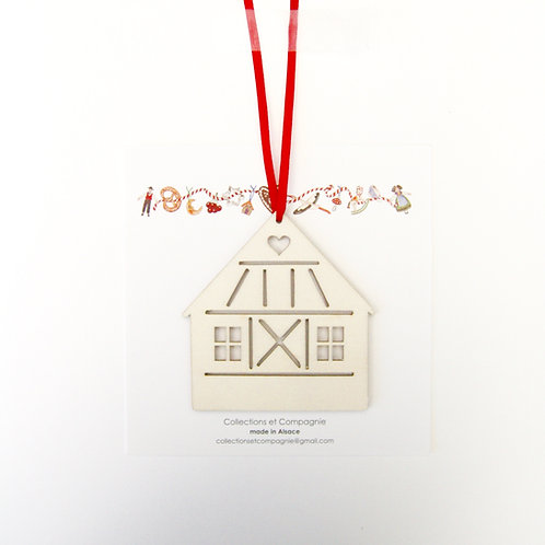 Carte + maison au coeur